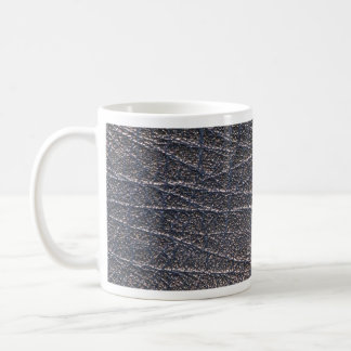 Blue leather texture mugs