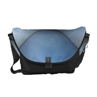 Blue Leather Tuck & Roll Interior Messenger Bag