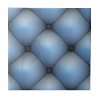 Blue Leather Tuck & Roll Interior Small Square Tile