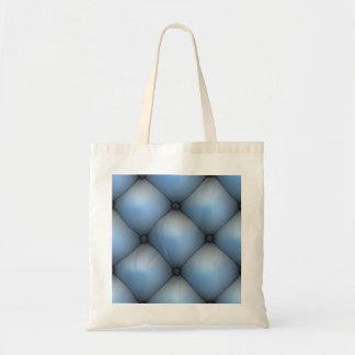 Blue Leather Tuck & Roll Interior Tote Bag