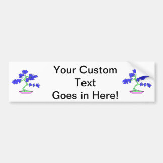 blue leaved green trunked bonsai tree graphic.png car bumper sticker