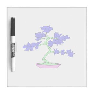 blue leaved green trunked bonsai tree graphic.png dry erase board