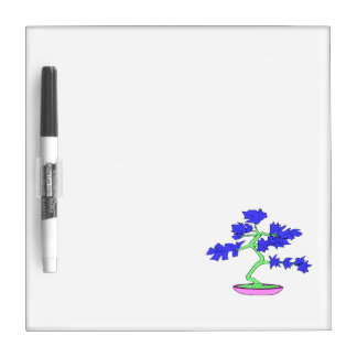 blue leaved green trunked bonsai tree graphic.png Dry-Erase whiteboard