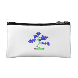 blue leaved green trunked bonsai tree graphic.png makeup bag