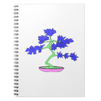 blue leaved green trunked bonsai tree graphic.png spiral note books