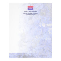 Blue Leaves Blend Letterhead