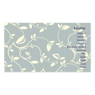 Blue Leaves - Business Double-Sided Standard Business Cards (Pack Of 100)