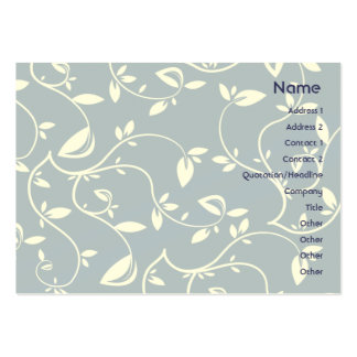Blue Leaves - Chubby Large Business Cards (Pack Of 100)