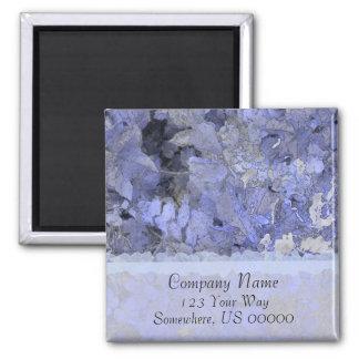 Blue Leaves Elegant Magnet
