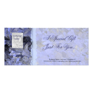 Blue Leaves Gift Certificate Card