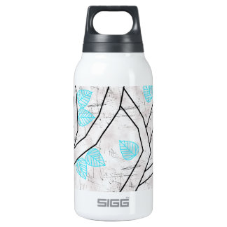 blue leaves insulated water bottle