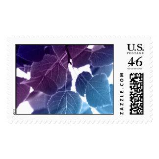 Blue Leaves Postage Stamp