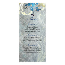 blue leaves winter wedding menu