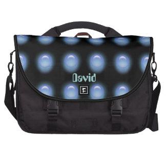 Blue LEDS on Black Laptop Bag Template