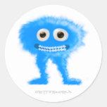 Blue Leggy Critter Classic Round Sticker