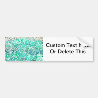 blue lei sketch abstract teal color design bumper sticker