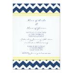 Blue Lemon Chevron Engagement Party Invitations
