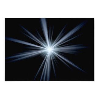 Blue Lens Flare Burst Card