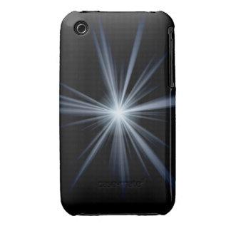 Blue Lens Flare Burst iPhone 3 Cover