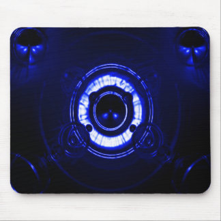 Blue Lens Flare Mouse Pad