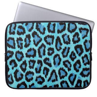 Blue Leopard Computer Sleeve