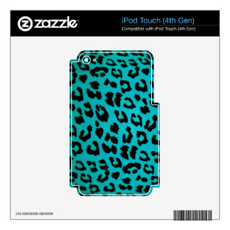 BLUE LEOPARD iPod TOUCH 4G DECALS