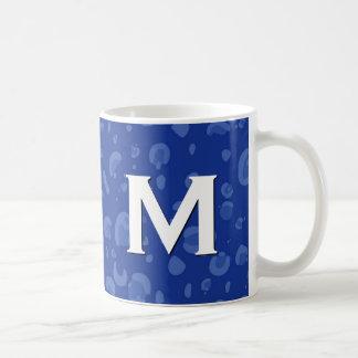 Blue Leopard Monogram Mug