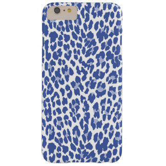 Blue Leopard Pattern Barely There iPhone 6 Plus Case