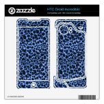 Blue Leopard Pattern HTC Droid Incredible Skin