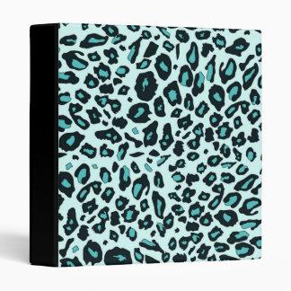 Blue leopard print binder