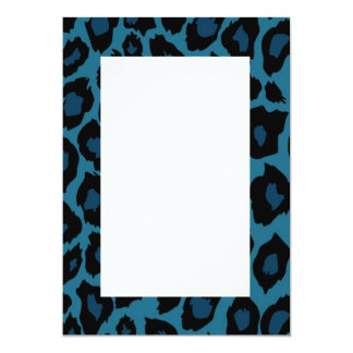 Blue Leopard Print Invitation