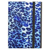 Blue leopard print iPad Air Case