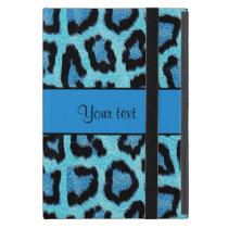 Blue Leopard Print iPad Mini Cover