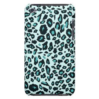 Blue leopard print iPod Case-Mate case