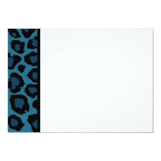 Blue Leopard Print Panel Invitation