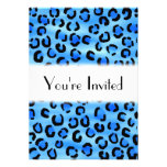 Blue Leopard Print Pattern. Card