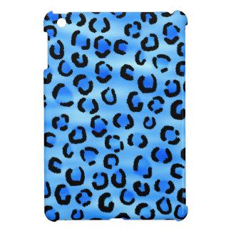 Blue Leopard Print Pattern. iPad Mini Case