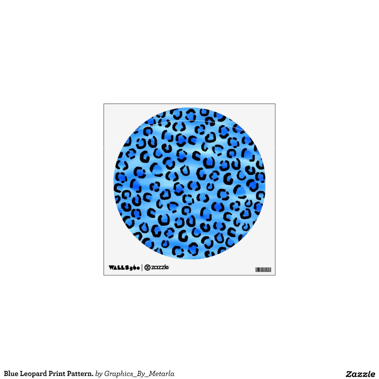 Blue Print Wall Decor : Blue leopard print pattern wall decor zazzle