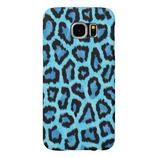 blue leopard print pattern - wild fun punk rock samsung galaxy s6 cases