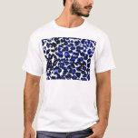 Blue Leopard Print T-Shirt