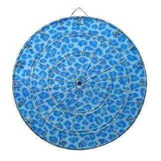 Blue Leopard Skin Dart Board