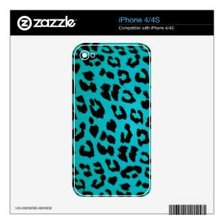 BLUE LEOPARD SKINS FOR THE iPhone 4S