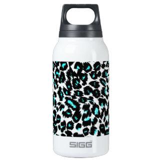Blue Leopard Spots Pattern Insulated Water Bottle