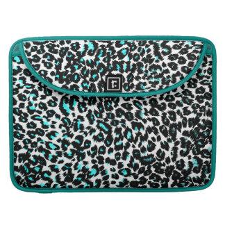 Blue Leopard Spots Pattern Sleeve For MacBook Pro
