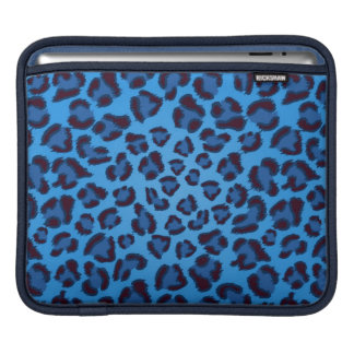 blue leopard texture pattern sleeve for iPads
