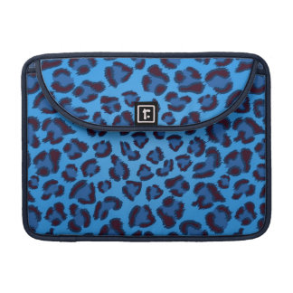 blue leopard texture pattern sleeve for MacBooks