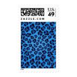 blue leopard texture pattern stamp