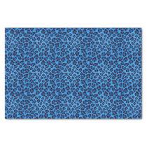 blue leopard texture pattern tissue paper