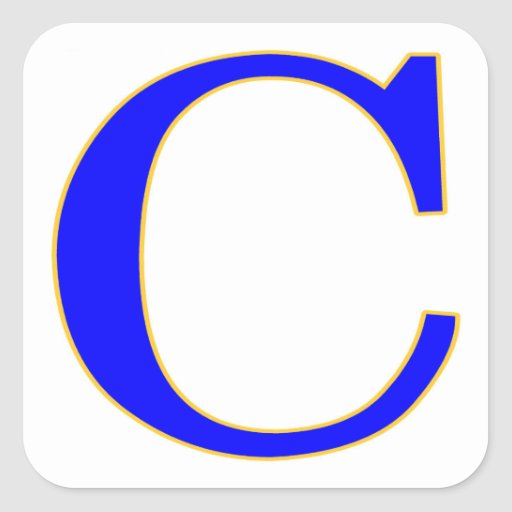 Blue letter c sticker zazzle for Letter c stickers