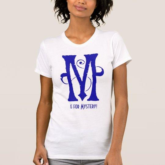 Blue Letter M Art Nouveau Monogram T-Shirt